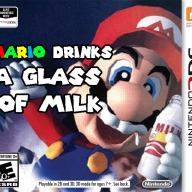 Mario Drinks a Glass of Milk