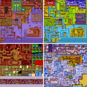 Video game hack level maps