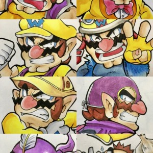 Wario skins wallpaper, made by @omu3310: Twitter