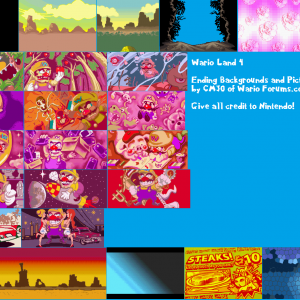 Wario Land 4 Ending Backgrounds