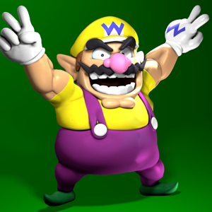 Wario Land 4 pose render