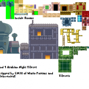 Wario Land 4 Arabian Night Tileset